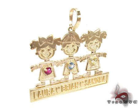 Little Kids Gold Pendant Metal