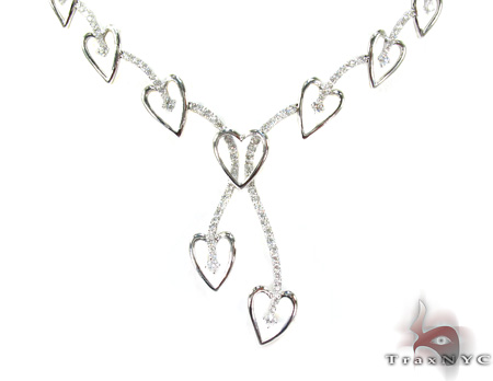 Loves Journey White Gold Diamond Ladies Necklace Diamond