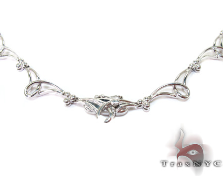 Loves Journey White Gold Diamond Ladies Necklace Diamond