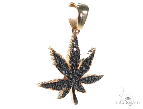 Maple Leaf Diamond Pendant 41059 Metal
