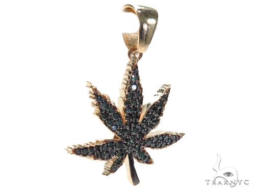 Maple Leaf Diamond Pendant 41059 Metal