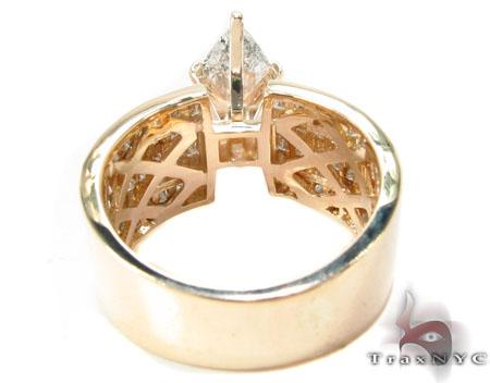 14K Yellow Gold Marquise Cut Diamond Ring Engagement