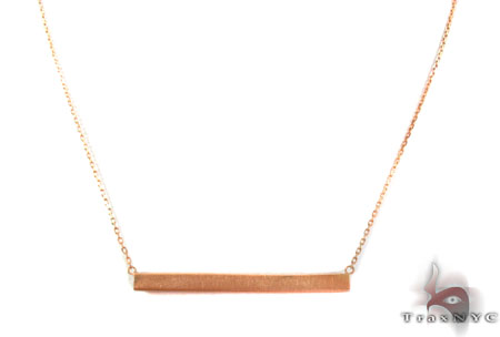 Silver Thin Rectangle Necklace Silver