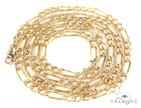 Mens 10k Hollow Yellow Gold Figaro Chain 24 Inches 3.1mm 4.52 Grams 47335 Gold