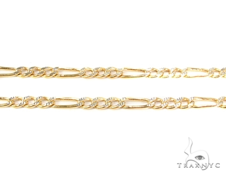 Mens 10k Hollow Yellow Gold Figaro Chain 8 Inches 4mm 2.83 Grams 47334 Gold