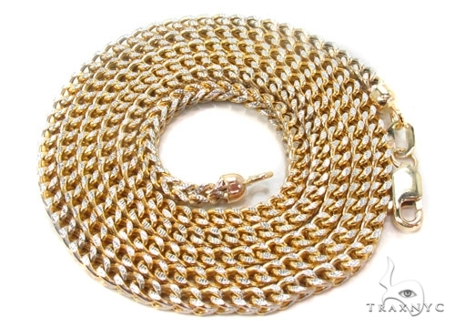 Mens 10k Hollow Yellow Gold Franco Chain 24 Inches 3mm 14.12 Grams 47427 Gold