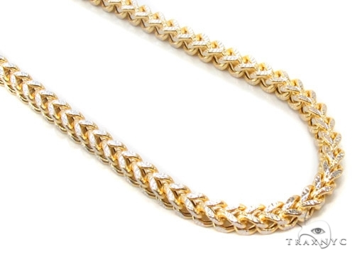 Mens 10k Hollow Yellow Gold Franco Chain 32 Inches 3.6mm 28.10 Grams 47392 Gold