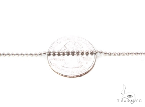 Mens 10k Solid White Gold Ball Chain 20 Inches 2.3mm 7.74 Grams 46830 Gold