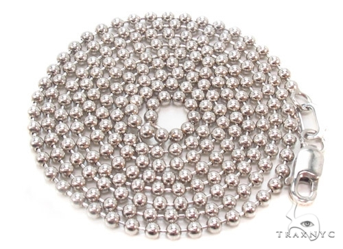 Mens 10k Solid White Gold Ball Chain 26 Inches 1.8mm 6.22 Grams 46827 Gold