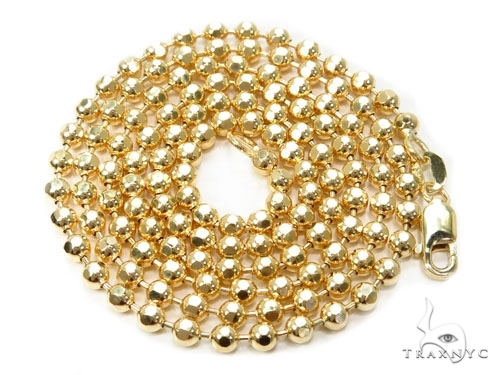 Mens 10k Solid Yellow Gold Ball Chain 24 Inches 4mm 26.74 Grams 46813 Gold