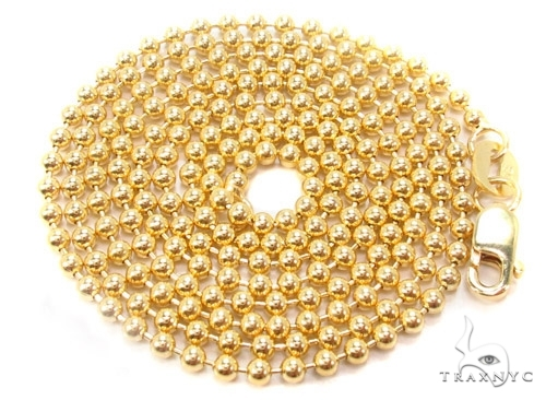 Mens 10k Solid Yellow Gold Ball Chain 28 Inches 1.8mm 6.87 Grams 46855 Gold