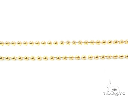 Mens 10k Solid Yellow Gold Ball Chain 30 Inches 1.8mm 7.11 Grams 46856 Gold