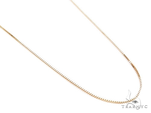 Mens 10k Solid Yellow Gold Box n n 24 Inches 0.6mm 1.54 Grams 46893 Gold