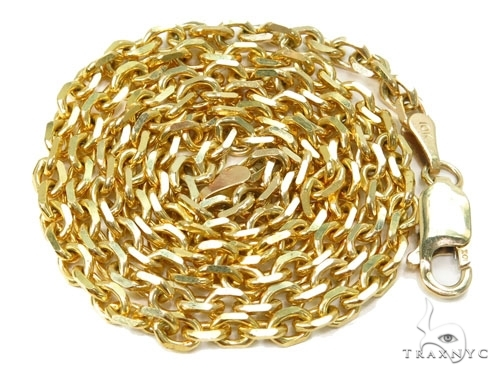 Mens 10k Solid Yellow Gold Cable Chain 24 Inches 1.8mm 4.97 Grams 46924 Gold