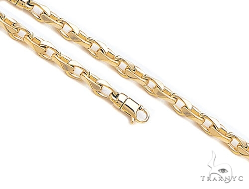 Mens 10k Solid Yellow Gold Cable Chain 26 Inches 6.1mm 46.33 Grams 46936 Gold