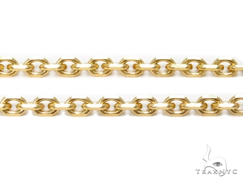 Mens 14k Hollow Yellow Gold Cable Chain 26 Inches 2.5mm 3.82 Grams 46956 Gold