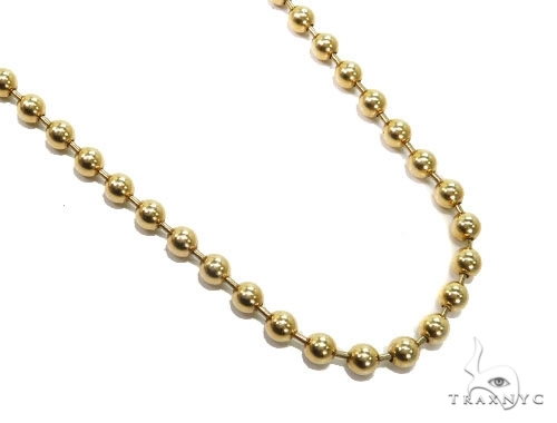 Mens 14k Solid Yellow Gold Ball Chain 26 Inches 4mm 31.47 Grams 46860 Gold
