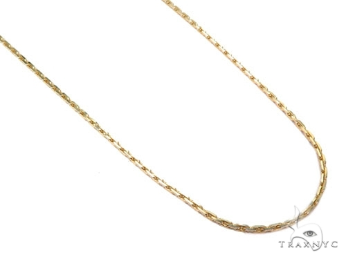 Mens 14k Solid Yellow Gold Boston Link Chain 24 Inches 1.2mm 8.75 Grams 46876 Gold