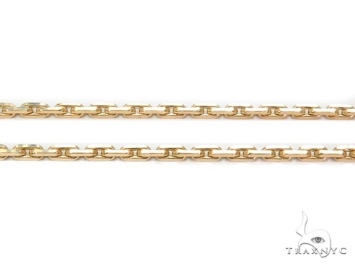 Mens 14k Solid Yellow Gold Boston Link Chain 26 Inches 1.8mm 17.25 Grams 46881 Gold