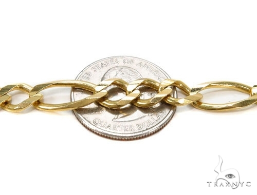Mens 14k Solid Yellow Gold Figaro Chain 22 Inches 9.2mm 82.90 Grams 47364 Gold