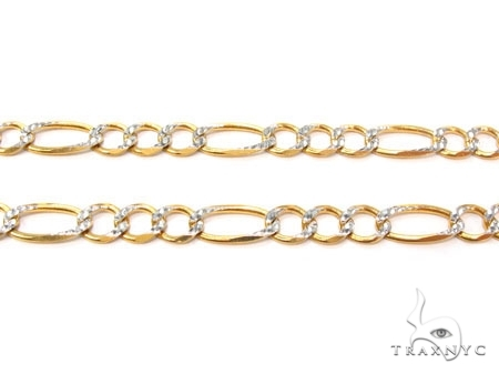 Mens 14k Solid Yellow Gold Figaro Chain 26 Inches 5.5mm 22.20 Grams 47345 Gold