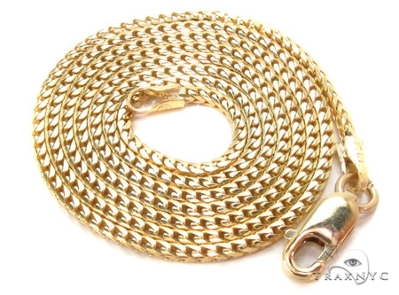 Mens 14k Solid Yellow Gold Franco Chain 20 Inches 1.2mm 4.52 Grams 47850 Gold
