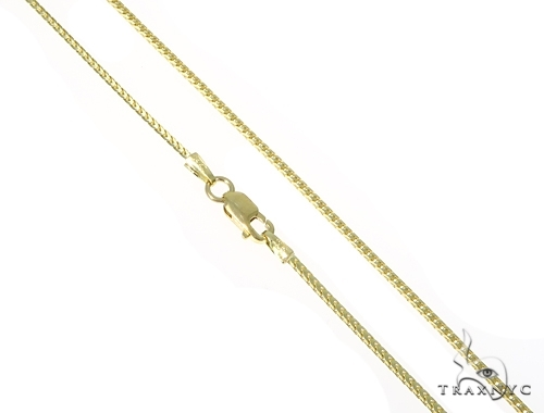 Mens 14k Solid Yellow Gold Franco Chain 22 Inches 1.2mm 2.58 Grams 47777 Gold