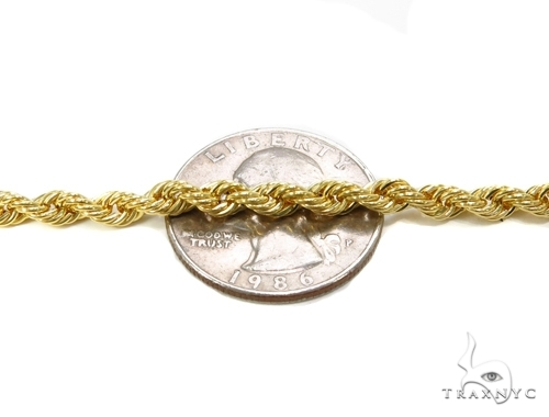 Mens 14k Solid Yellow Gold Rope Chain 32 Inches 4.5mm  48641 Gold