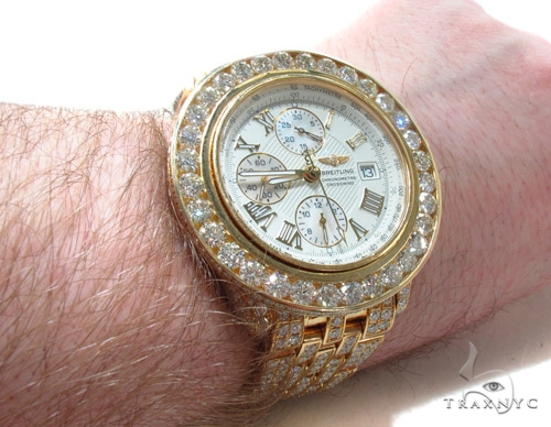 Mens 18K Gold Breitling Crosswind Watch Breitling