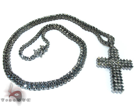 Mens Black Diamond Set 21883 Diamond Chains