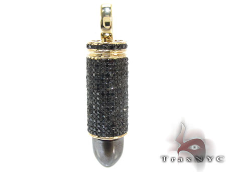 XL Black Bullet Pendant Metal