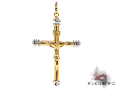 Ladies Cross Pendant 21568 Gold