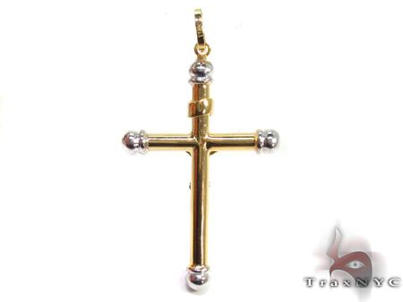 Ladies Cross Pendant 21568 Gold
