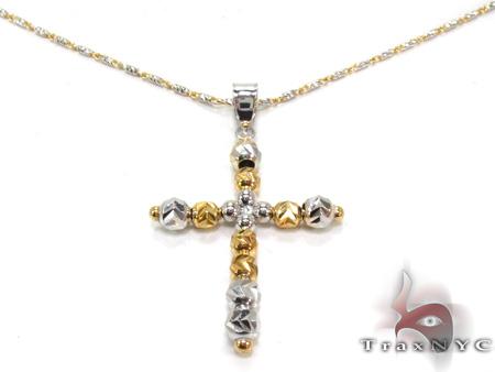 Ladies Cross Crucifix Pendant 21573 ゴールドクロス