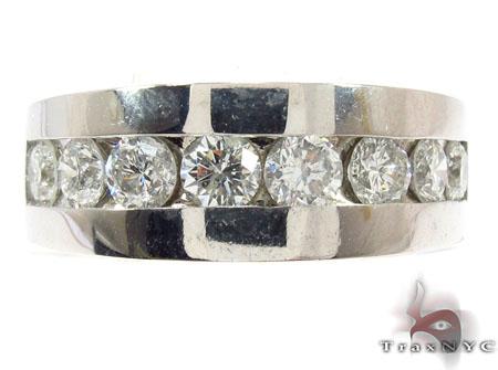 Gorgeous Eight Stone Channel Set White Gold Wedding Ring Stone
