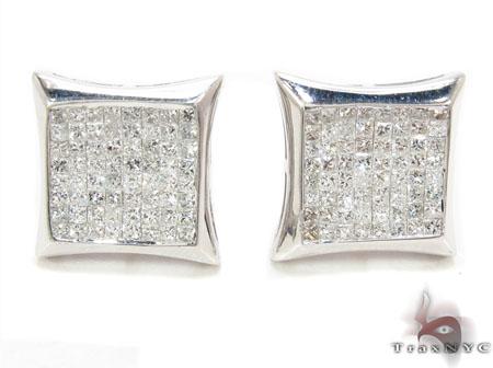 Mens Diamond Earrings 31396 Stone