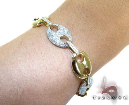 Mens Diamond Gucci Link Bracelet Diamond