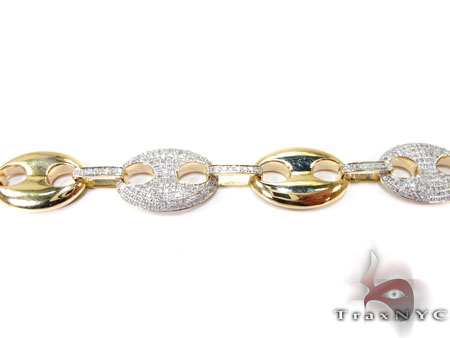 Mens Diamond Gucci Link Bracelet Diamond