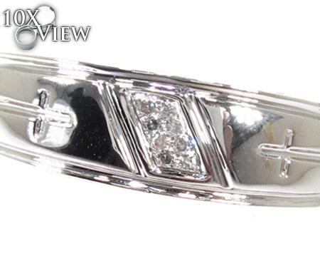 Cheap Mens Cross Diamond Ring Stone