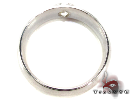 Mens White Gold Gay Wedding Ring Style