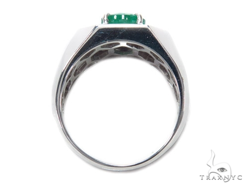 Mens Godfather Emerald Ring 42558 Stone