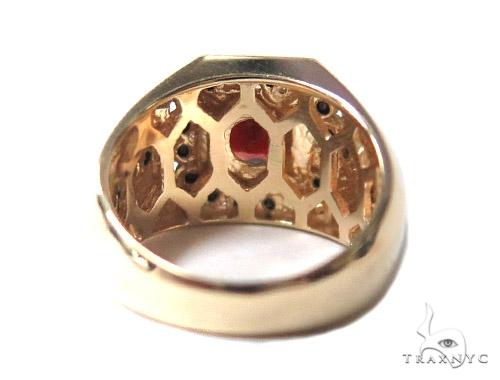 Mens Godfather Garnet Ring 44311 Stone