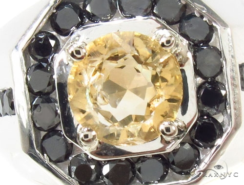 Mens Godfather Citrine Ring Metal