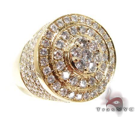 Mens Gold Mayan Pinky Ring Mens Style Yellow Gold 14k