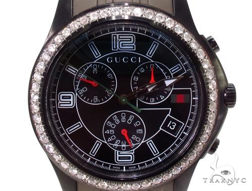 Mens Gucci Timeless Chrono Diamond Watch Gucci