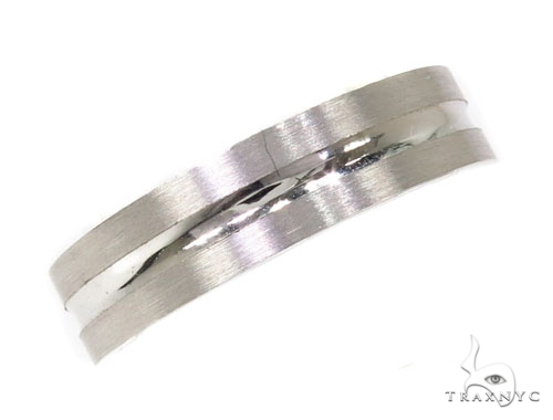 Mens Indented Stripe Wedding Band メンズ ゴールド 結婚指輪