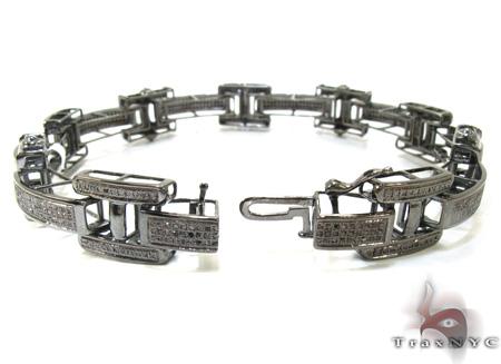 Mens Micro Pave Black Diamond Baracelet 21392 Diamond