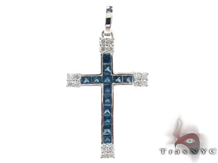 Unisex Gemstones Diamond Cross Mens Diamond Cross