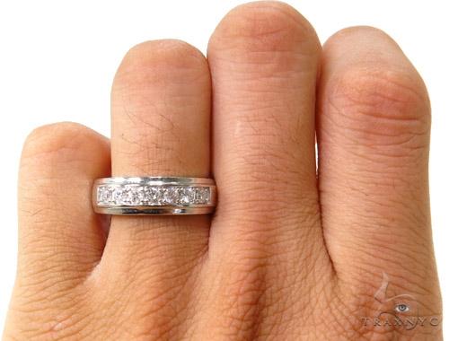 Mens Prong Set Guys Wedding Ring Stone