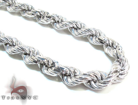Ladies Silver Chain 18 Inches 17mm 62.4 Grams Silver